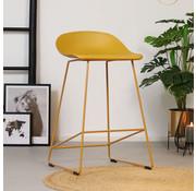Barhocker Ellen skandinavisches Design gelb 66 cm