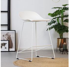 Barhocker Ellen skandinavisches Design weiß 66 cm