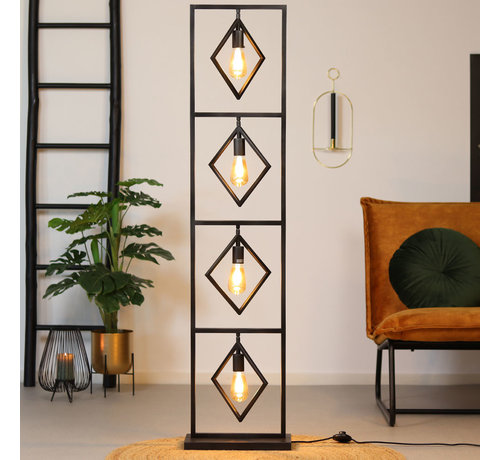 Bronx71 Stehlampe Willow 4-flammig Metall anthrazit