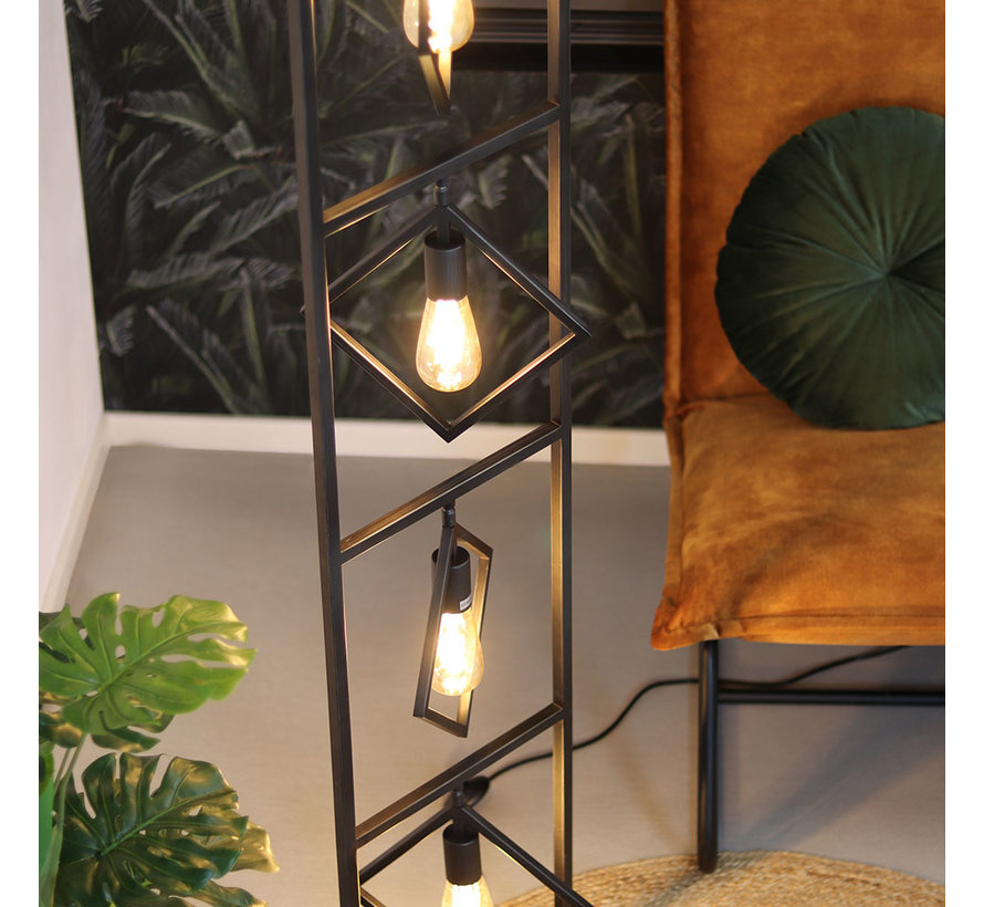 Stehlampe Willow 4-flammig Metall anthrazit