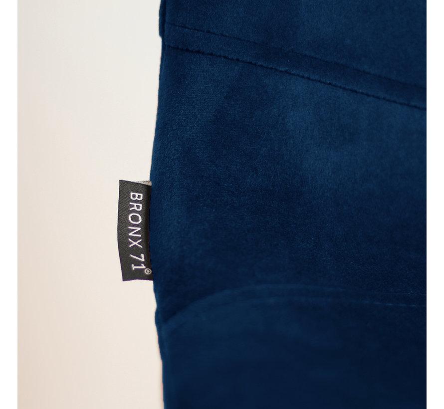 Barhocker Samt Mikky 67 - 80 cm blau