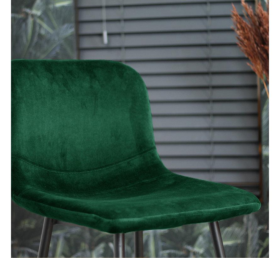 Barhocker Samt Mikky 67 - 80 cm grün