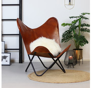 Bronx71 Butterfly Chair Vice cognac Leder
