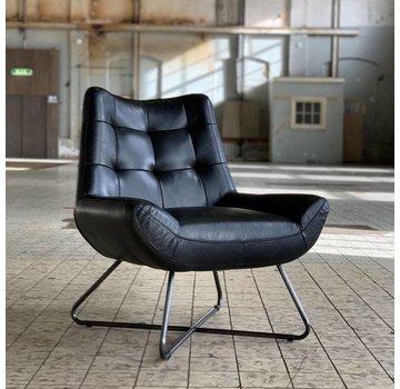 Bronx71 Ledersessel Joa Industrial Design schwarz