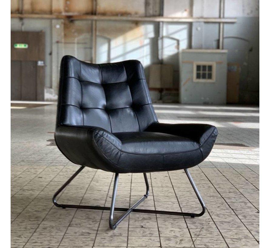Ledersessel Joa Industrial Design schwarz
