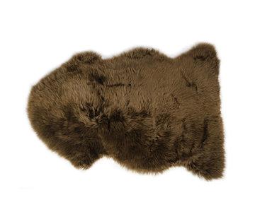 Lammfell dunkelbraun 100 x 68 cm