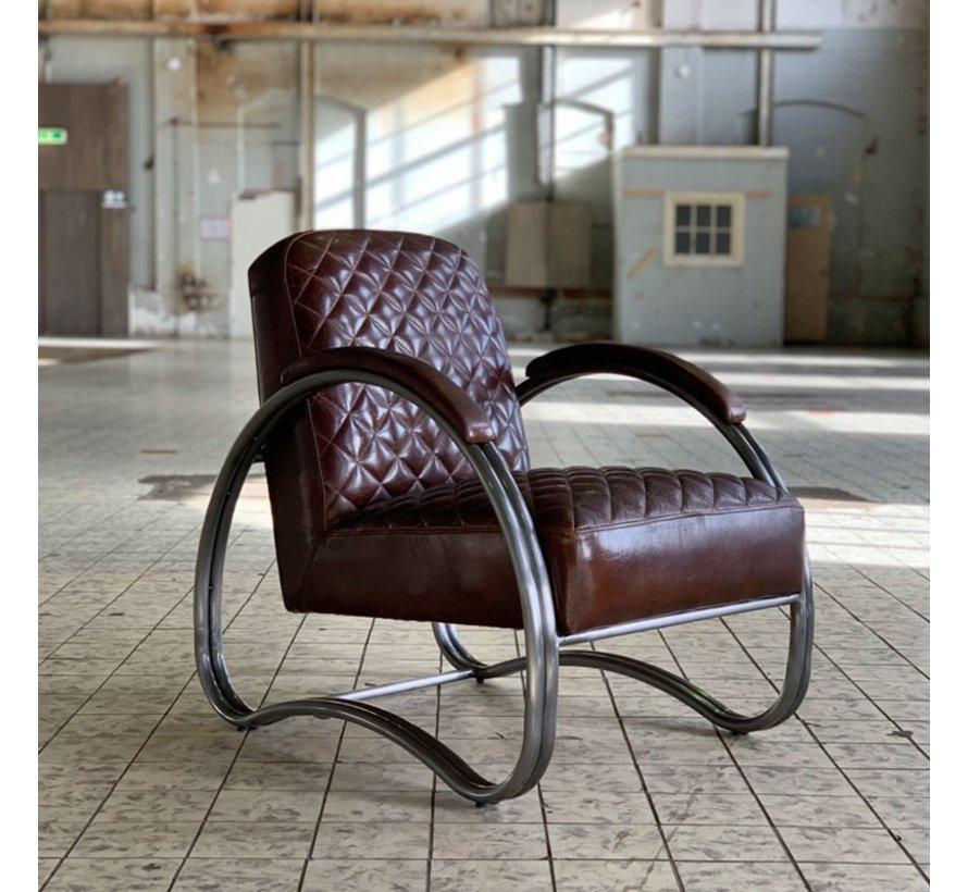 Sessel Mario Industrial Design Echtleder braun