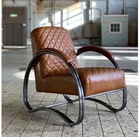 Sessel Mario Industrial Design Echtleder cognac