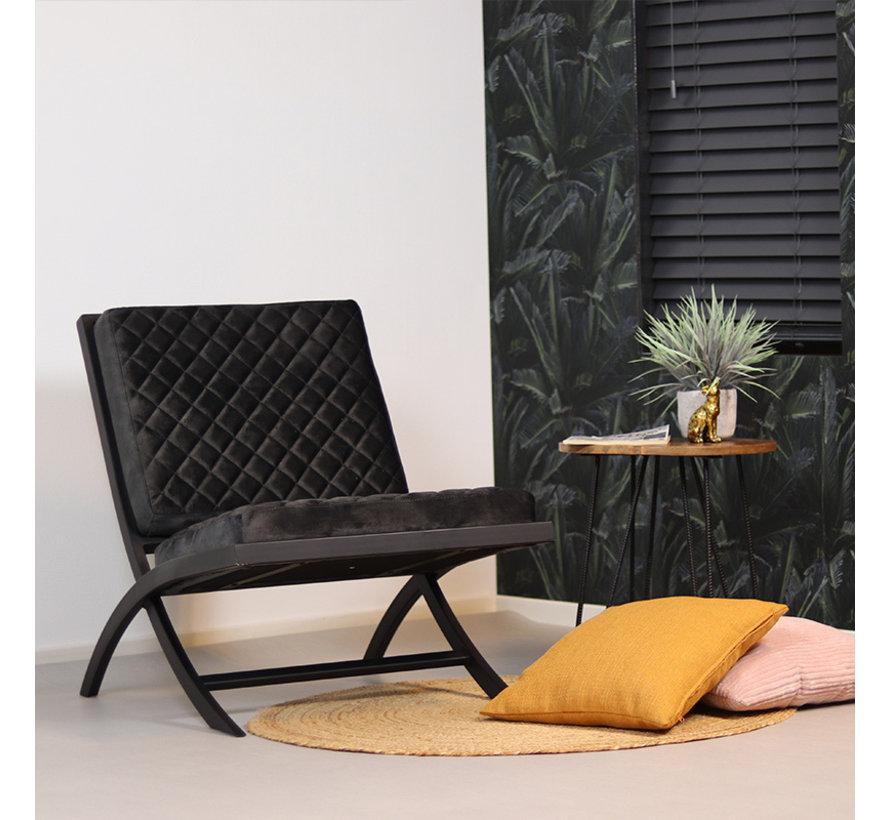 Samt Sessel Madrid Luxury Design anthrazit