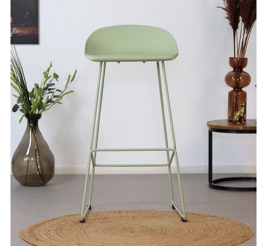 Barhocker Ellen skandinavisches Design grün 76 cm