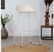 Barhocker Ellen skandinavisches Design weiß 76 cm