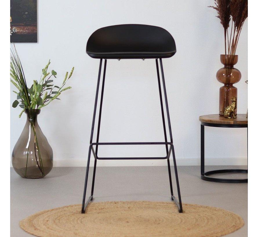 Barhocker Ellen skandinavisches Design schwarz 76 cm