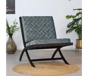 Bronx71 Samt Sessel Madrid Luxury Design blau