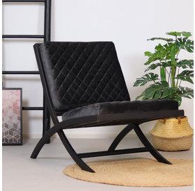 Bronx71 Samt Sessel Madrid Luxury Design anthrazit
