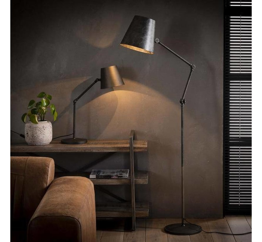 Stehlampe Bruce 1-flammig Metall Industrial Design