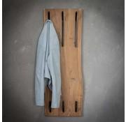 Wandgarderobe Magda Akazienholz 35 cm 6 Haken