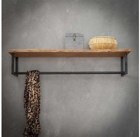 Wandgarderobe Martha Akazie 100 cm mit Hutablage