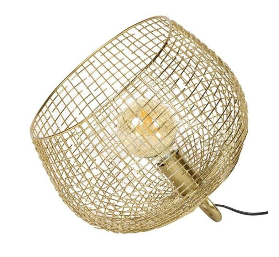 Tischlampe Fay gold Korb Ø 33 cm