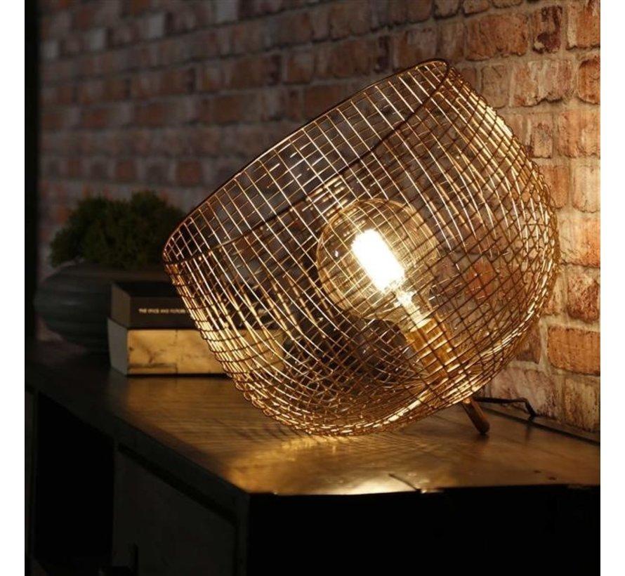 Tischlampe Fay gold Korb Ø 39 cm