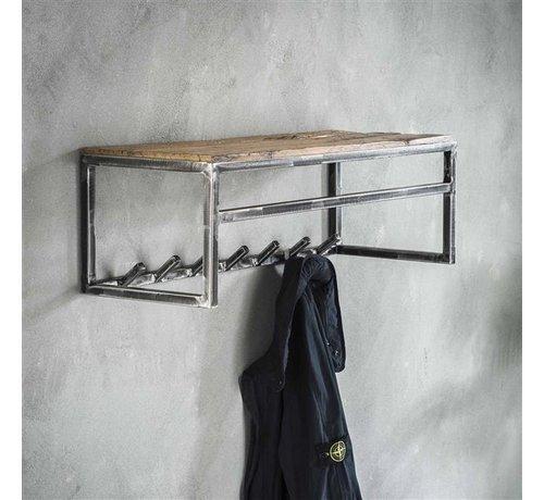 Wandgarderobe Gio Hartholz/Metall 7 Haken