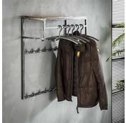 Wandgarderobe Gio Hartholz/Metall 14 Haken