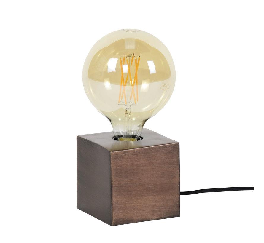 Tischlampe Box 1-flammig Bronze