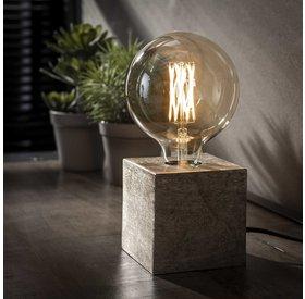 Tischlampe Box 1-flammig Nickel