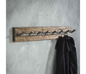 Wandgarderobe Gio Hartholz/Metall 8 Haken