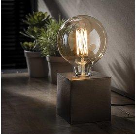 Tischlampe Box 1-flammig schwarz Nickel