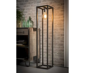 Stehlampe Jane 1-flammig Metall silber