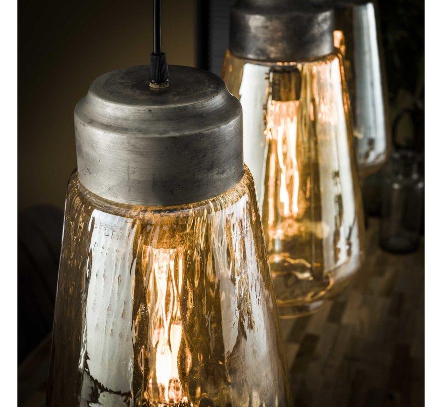 Hängelampe Dox 3-flammig Glas modern