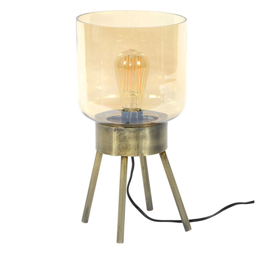 Tischlampe Lia 1-flammig Glas gold