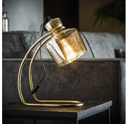 Tischlampe April 1-flammig Glas gold