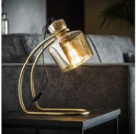 Tischlampe April 1-flammig Glas gold