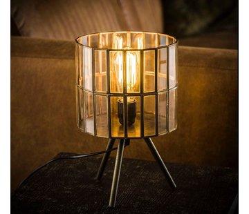 Tischlampe Abby 1-flammig Dreibein Bronze