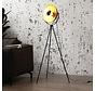 Stehlampe Jonah Dreibein schwarz/gold