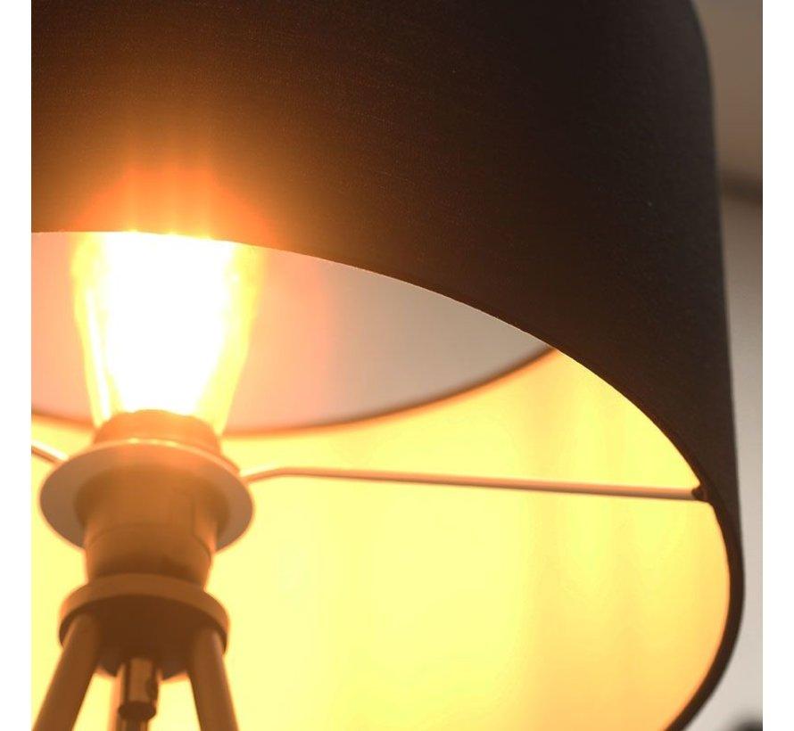 Stehlampe Ryan 1-flammig Dreibein schwarz