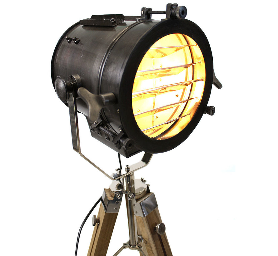 Stehlampe Sam 1-flammig Dreibein schwarz