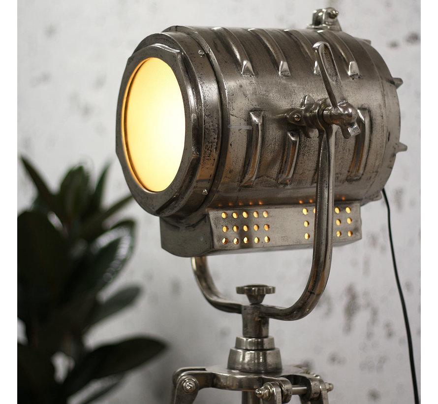 Stehlampe Kristel 1-flammig Dreibein Nickel