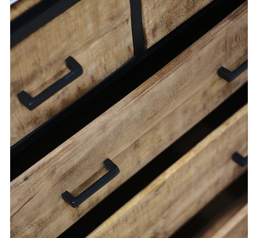 Highboard Nico Industrial Design Mangoholz