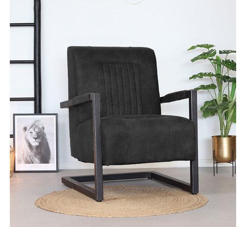 Bronx71 Sessel Microfaser Austin Industrial Design schwarz