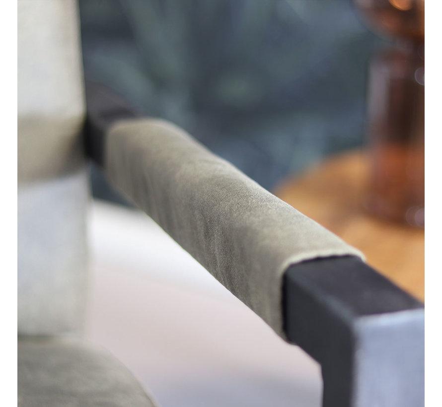 Sessel Microfaser Austin Industrial Design olivgrün