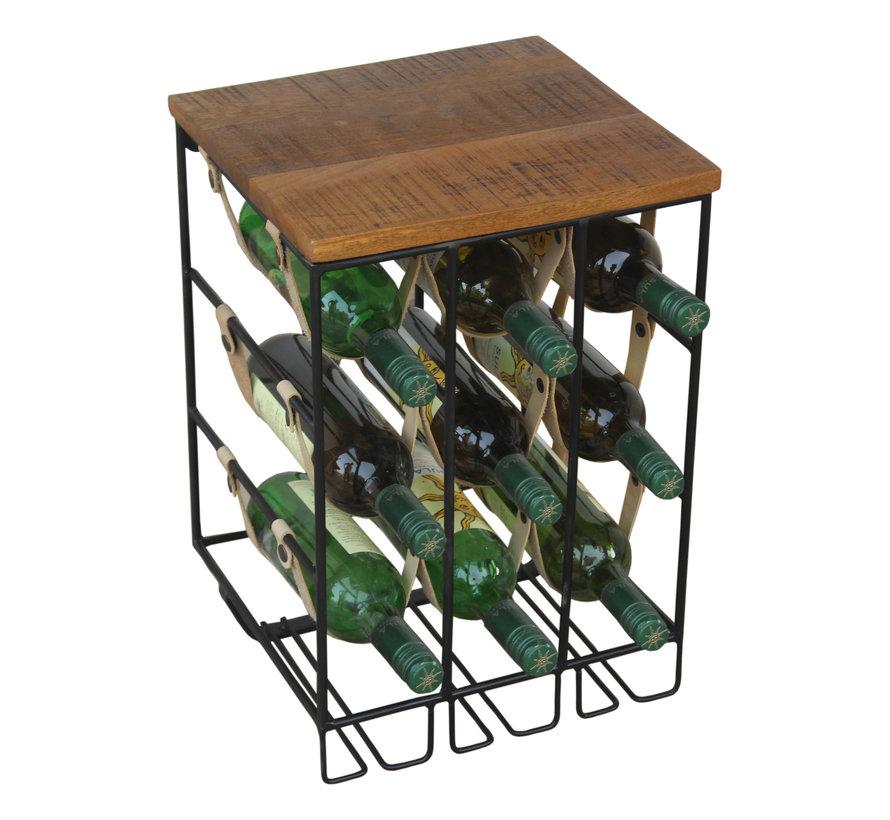 Weinregal Lazio Mangoholz 9 Flaschen