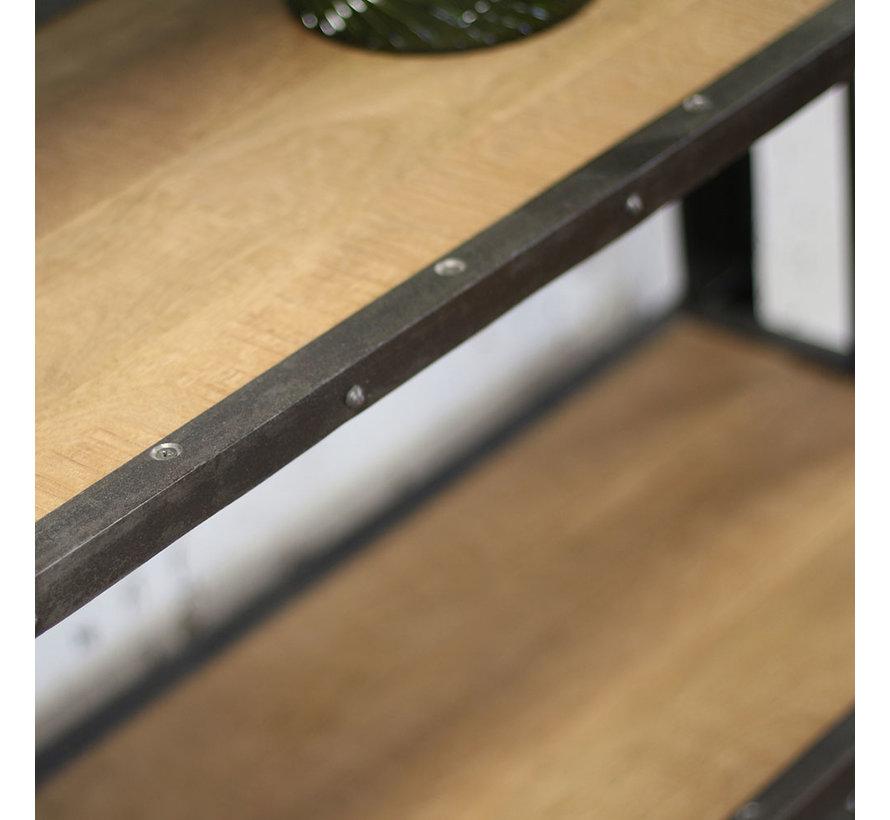 Regal Seth Industrial Design Mangoholz/Metall