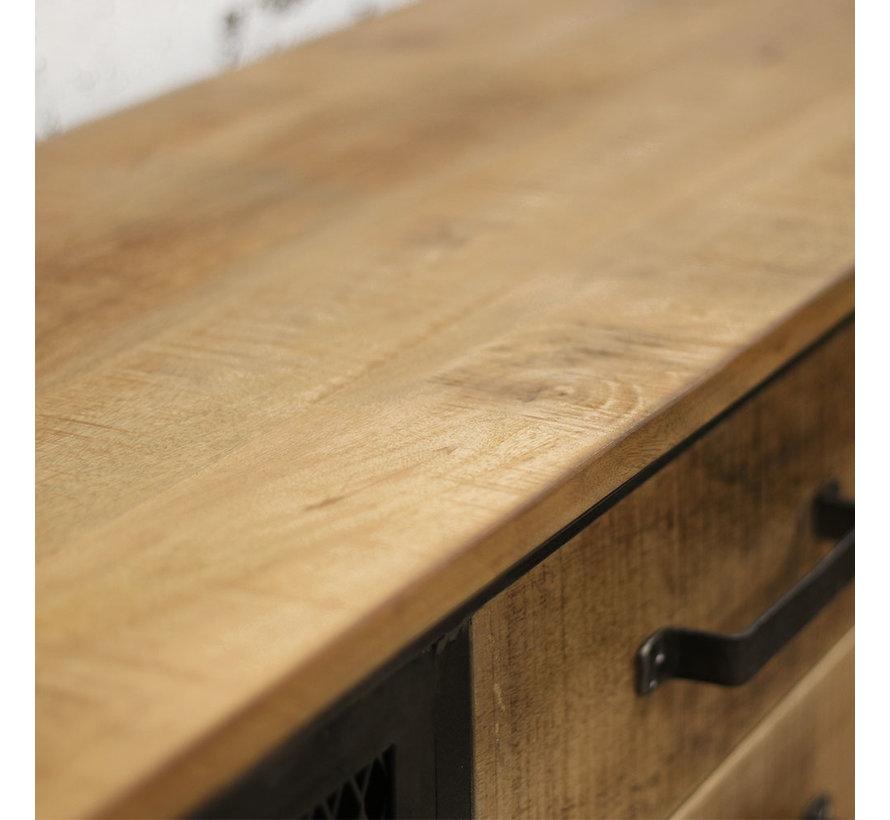 Sideboard Jason Industrial Design Mangoholz/Metall 153cm