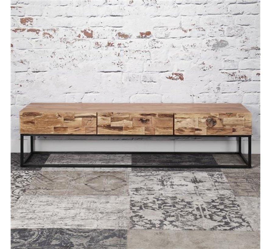 TV-Lowboard Brick Akazienholz 180 x 46 cm