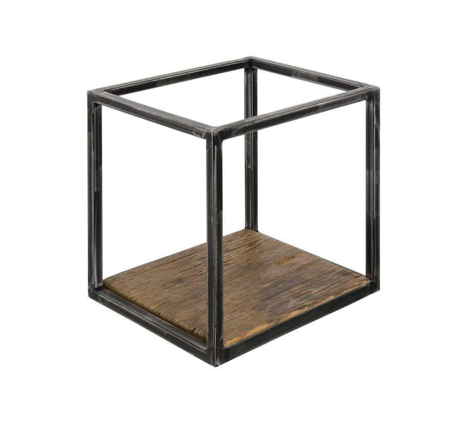 Wandregal Andrew Industrial Design Hartholz 30 cm