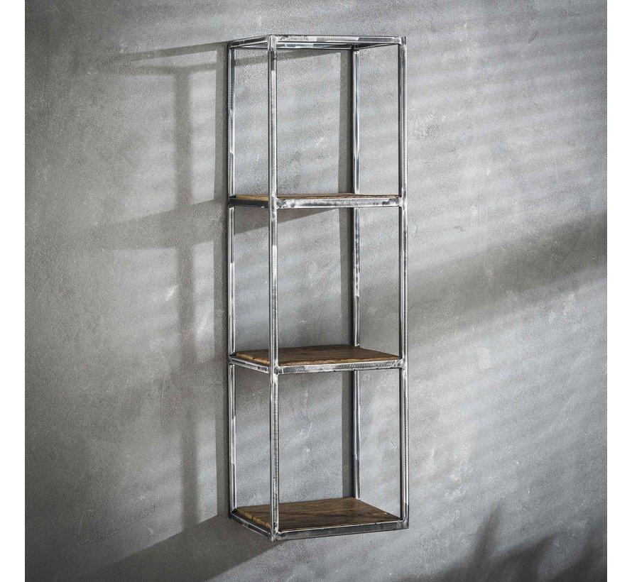 Wandregal Andrew Industrial Design Hartholz 100 cm hoch