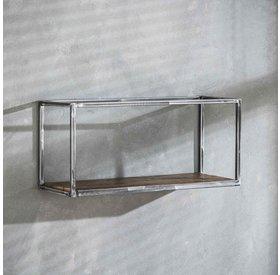 Wandregal Andrew Industrial Design Hartholz 65 cm