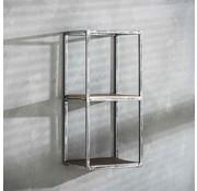 Wandregal Andrew Industrial Design Hartholz 65 cm hoch